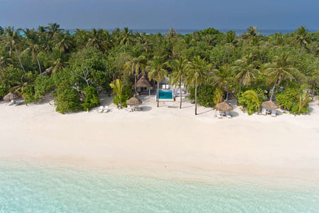 aerial view at Kanuhura hotel Maldives