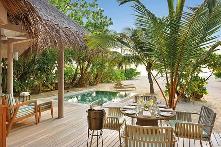 grand beach pool villa at Kanuhura hotel Maldives