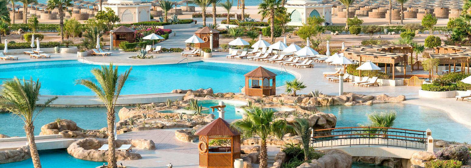 pools facade at kempinski soma bay resort egypt