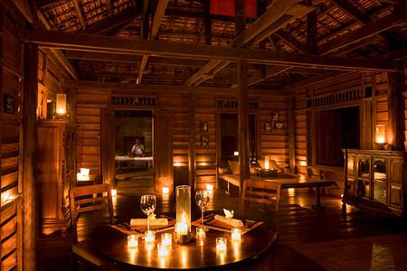 Khmer Village House - Twilight Dinner at amansara hotel cambodia
