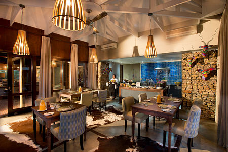 Kwandwe Ecca Lodge dining room south africa