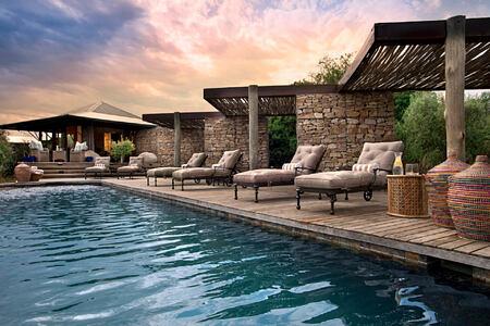 Kwandwe Ecca Lodge main guest pool south africa