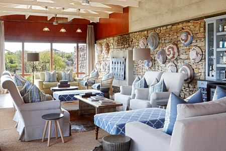 Kwandwe Ecca Lodge main lounge south africa