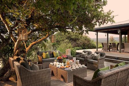 Kwandwe Ecca Lodge outdoor terrace south africa