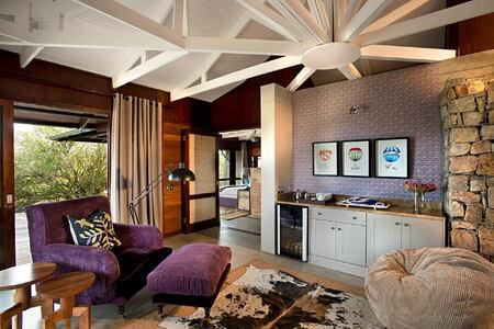 Kwandwe Ecca Lodge suie lounge purple south africa