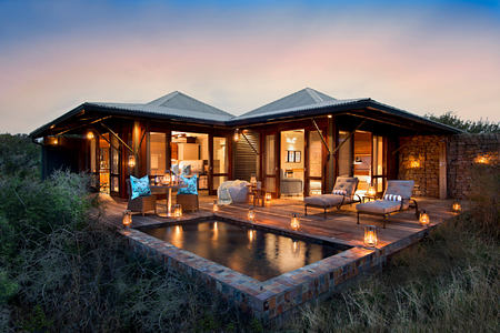 Kwandwe Ecca Lodge suite exterior eve south africa