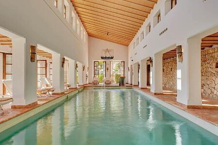 pool at la residencia hotel spain