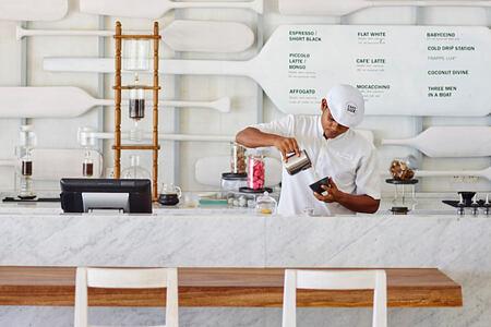 chef restaurant at lux maldives resort