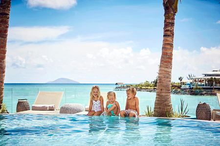 family pool at lux grand gaube resort mauritius