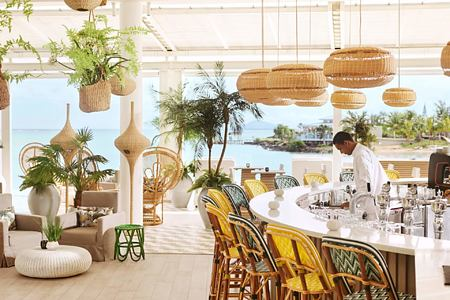 palm court bar at lux grand gaube resort mauritius