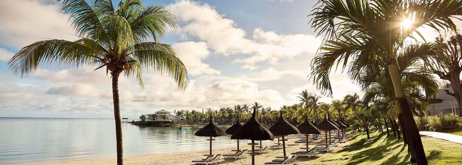 beach view at lux grand gaube resort mauritius