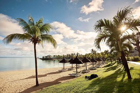 beach view at lux grand gaube resort mauritius