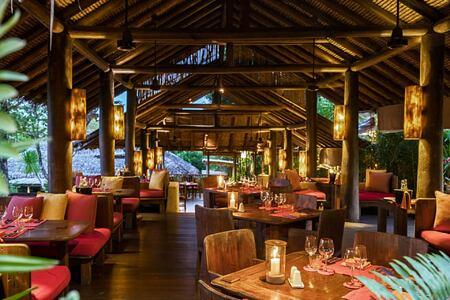 living room at six senses yao noi resort phuket thailand