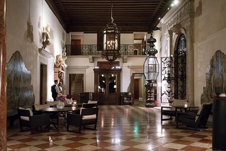 Lobby at aman hotel venice
