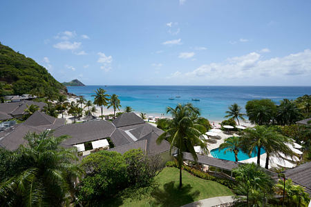 Luxury Ocean View Twin Room View at the body holiday resort st lucia