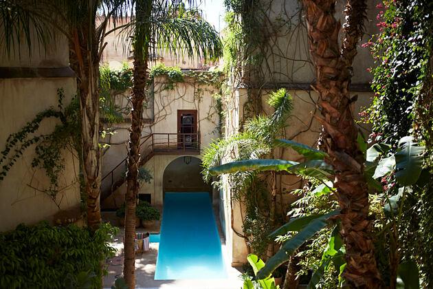 MAIN POOL at riad el fenn hotel morocco