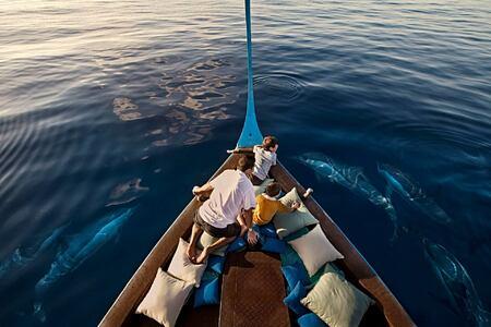 boat at four seasons kuda huraa resort maldives
