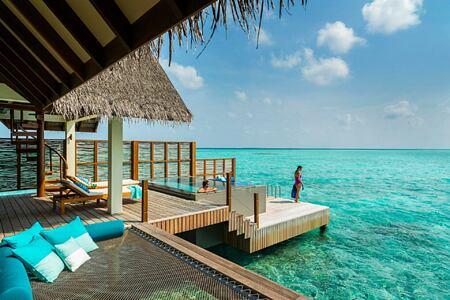 view at Four Seasons Landaa Giraavaru hotel maldives