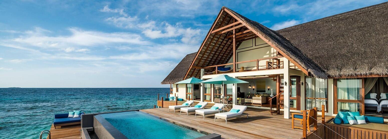 exterior at Four Seasons Landaa Giraavaru hotel maldives
