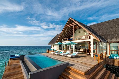 exterior at Four Seasons Landaa Giraavaru hotel maldives
