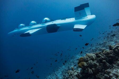 submarine at Four Seasons Landaa Giraavaru hotel maldives