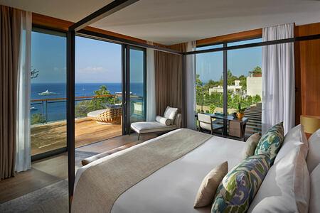 Mandarin Villa Bedroom at mandarin oriental bodrum hotel turkey