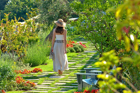 Garden Path Close Up at monastero santa rosa