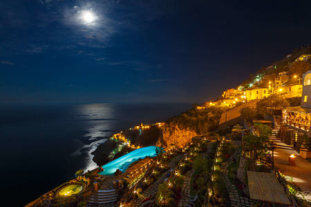 Gardens Full Moon at monastero santa rosa