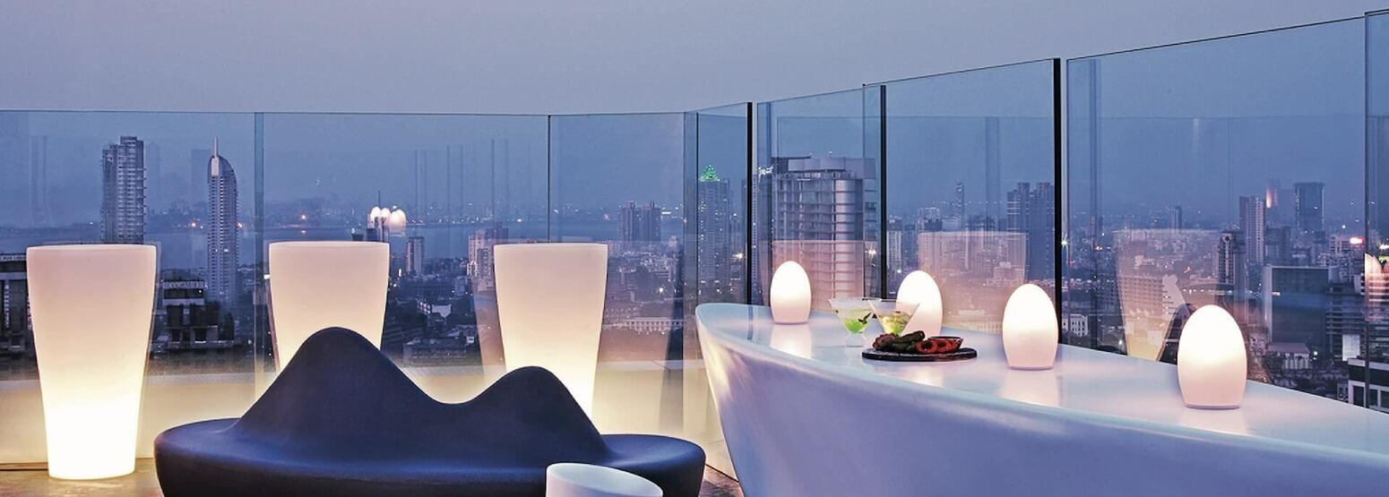rooftop view at four seasons mumbai hotel