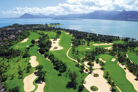 aerial view of golf course at le paradis hotel france