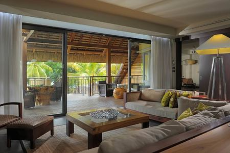 living room at trou aux biches hotel mauritius