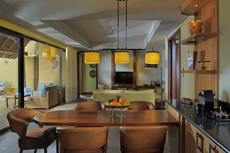 kitchen at trou aux biches hotel mauritius