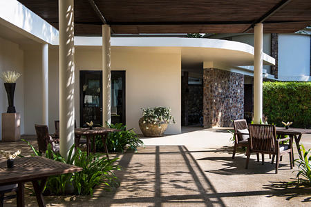 Main Pool Pergola at amansara hotel cambodia