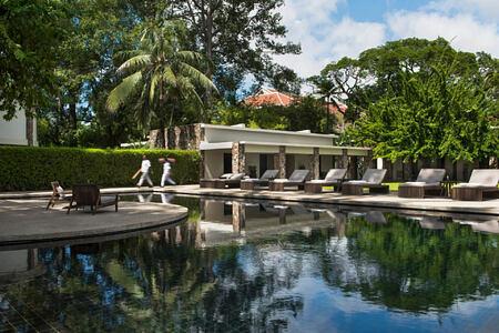 Main Pool at amansara hotel cambodia