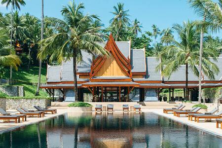 main pool at amanpuri hotel phuket