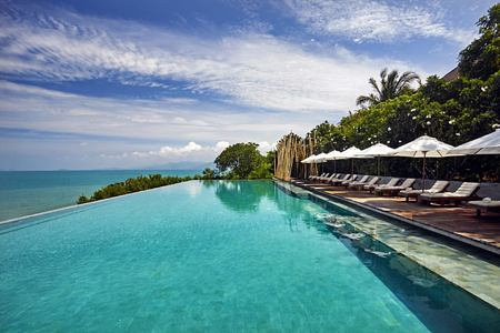 main pool at six senses samui hotel thailand
