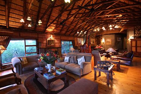 Mkuze Falls lodge lounge south africa