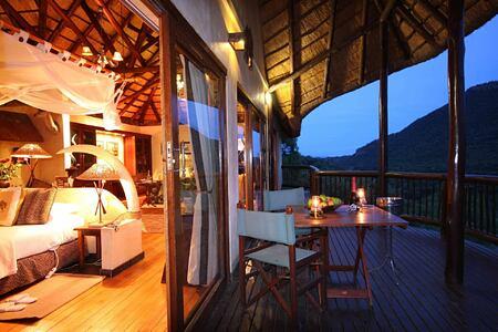 Mkuze Falls safari suite deck south africa