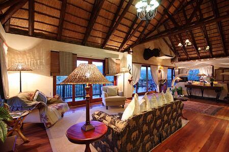 Mkuze Falls safari suite lounge south africa