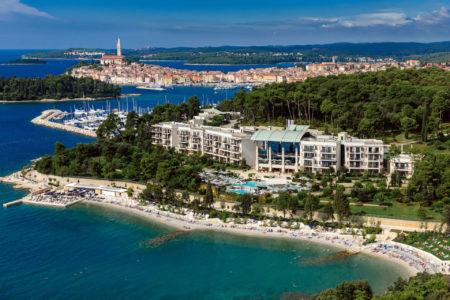 aerial view of Hotel Monte Mulini croatia