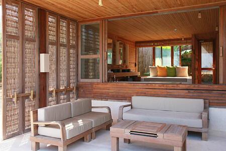 ocean front duplex terrace at six senses con dao hotel vietnam