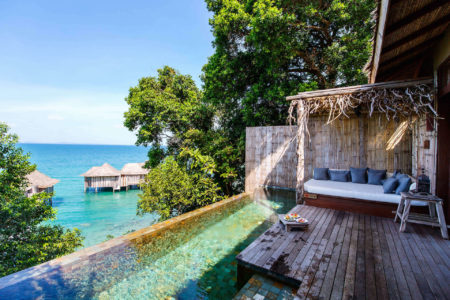 One bedroom jungle villa family photos infinity pool overlooking villas at song saa resort cambodia