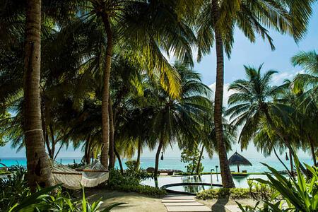 main pool at reethi rah resort maldives