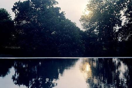 Outdoor Pool at babington house somerset uk