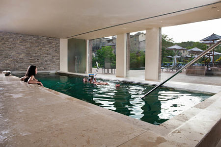 pool at Castel Monastero hotel