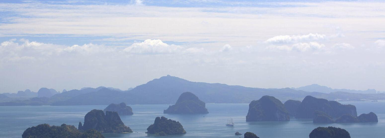 phang nga bay at six senses yao noi resort phuket thailand
