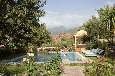 pool at la roseraie hotel morocco