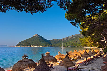 beach and hill at Hotel Formentor Mallorca