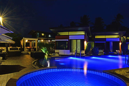 Pool Night at aava resort and spa thailand