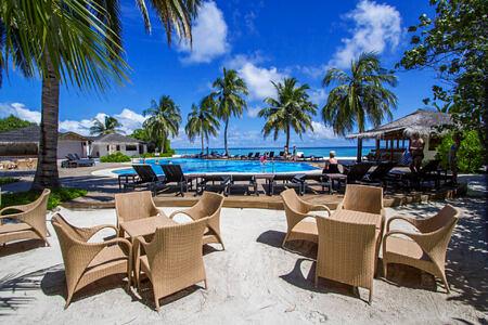 Pool side at palm beach resort and spa maldives